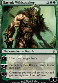 Magic the Gathering Lorwyn Single Garruk Wildspeaker - SLIGHT PLAY (SP)