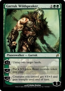 Magic the Gathering Lorwyn Single Garruk Wildspeaker - MODERATE PLAY (MP)
