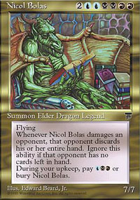 Magic the Gathering Chronicles Single Nicol Bolas UNPLAYED (NM/MT)