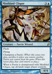 Magic the Gathering Lorwyn Single Mistbind Clique LIGHT PLAY (NM)