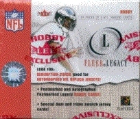 2001 Fleer Legacy Football Hobby Box