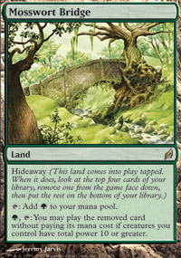 Magic the Gathering Lorwyn Single Mosswort Bridge UNPLAYED (NM/MT)