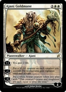 Magic the Gathering Lorwyn Single Ajani Goldmane UNPLAYED (NM/MT)