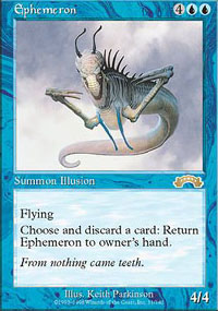 Magic the Gathering Exodus Single Ephemeron - SLIGHT PLAY (SP)