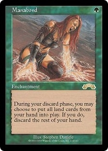 Magic the Gathering Exodus Single Manabond - Signed - NEAR MINT (NM)