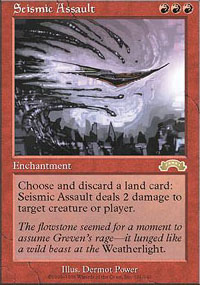 Magic the Gathering Exodus Single Seismic Assault - NEAR MINT (NM)