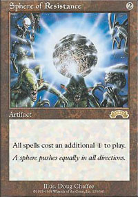 Magic the Gathering Exodus Single Sphere of Resistance - SLIGHT PLAY (SP)