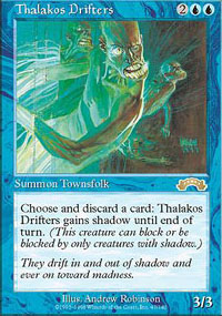 Magic the Gathering Exodus Single Thalakos Drifters - SLIGHT PLAY (SP)