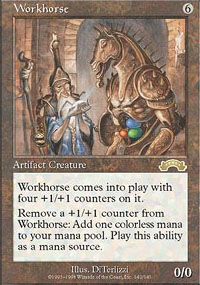 Magic the Gathering Exodus Single Workhorse - NEAR MINT (NM)