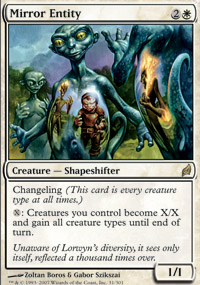 Magic the Gathering Lorwyn Single Mirror Entity - SLIGHT PLAY (SP)