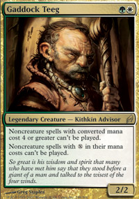 Magic the Gathering Lorwyn Single Gaddock Teeg UNPLAYED (NM/MT)