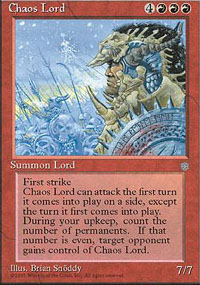 Magic the Gathering Ice Age Single Chaos Lord LIGHT PLAY (NM)