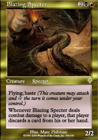 Magic the Gathering Invasion Single Blazing Specter Foil