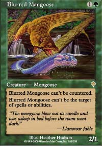 Magic the Gathering Invasion Single Blurred Mongoose - NEAR MINT (NM)