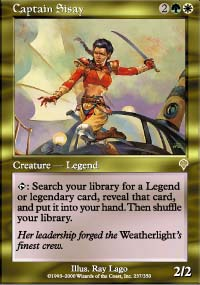 Magic the Gathering Invasion Single Captain Sisay - NEAR MINT (NM)