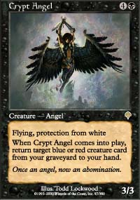 Magic the Gathering Invasion Single Crypt Angel Foil