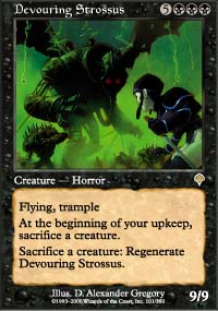 Magic the Gathering Invasion Single Devouring Strossus UNPLAYED (NM/MT)