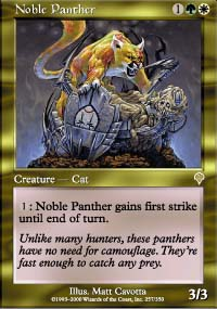 Magic the Gathering Invasion Single Noble Panther - SLIGHT PLAY (SP)