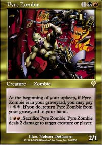 Magic the Gathering Invasion Single Pyre Zombie Foil