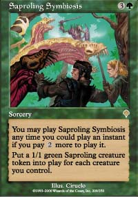 Magic the Gathering Invasion Single Saproling Symbiosis - NEAR MINT (NM)