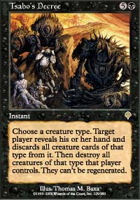 Magic the Gathering Invasion Single Tsabo's Decree - NEAR MINT (NM)