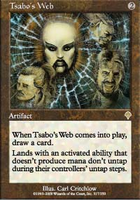 Magic the Gathering Invasion Single Tsabo's Web UNPLAYED (NM/MT)