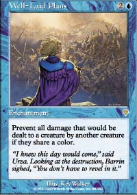 Magic the Gathering Invasion Single Well-Laid Plans UNPLAYED (NM/MT)