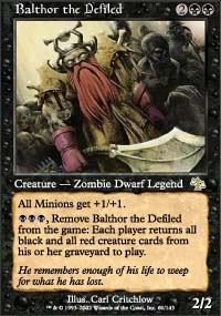 Magic the Gathering Judgment Single Balthor the Defiled - NEAR MINT (NM)