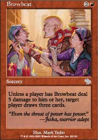 Magic the Gathering Judgment Single Browbeat - NEAR MINT (NM)
