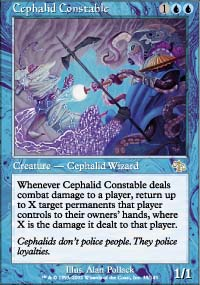 Magic the Gathering Judgment Single Cephalid Constable - NEAR MINT (NM)
