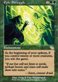 Magic the Gathering Judgment Single Epic Struggle Foil