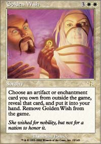Magic the Gathering Judgment Single Golden Wish Foil
