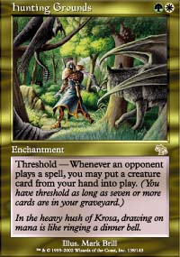 Magic the Gathering Judgment Single Hunting Grounds - NEAR MINT (NM)