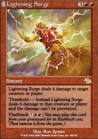 Magic the Gathering Judgment Single Lightning Surge UNPLAYED (NM/MT)