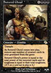 Magic the Gathering Judgment Single Sutured Ghoul - NEAR MINT (NM)