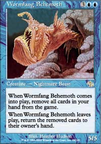 Magic the Gathering Judgment Single Wormfang Behemoth Foil