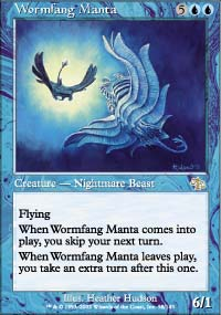 Magic the Gathering Judgment Single Wormfang Manta FOIL