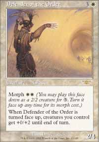 Magic the Gathering Legions Single Defender of the Order UNPLAYED (NM/MT)