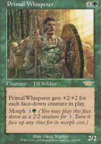 Magic the Gathering Legions Single Primal Whisperer - NEAR MINT (NM)