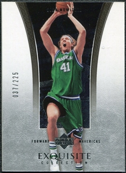 2004/05 Upper Deck Exquisite Collection #6 Dirk Nowitzki /225