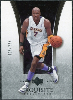 2004/05 Upper Deck Exquisite Collection #17 Lamar Odom /225