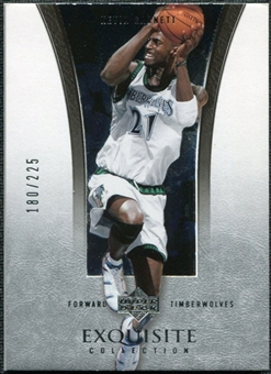 2004/05 Upper Deck Exquisite Collection #22 Kevin Garnett /225