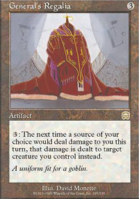 Magic the Gathering Mercadian Masques Single General's Regalia UNPLAYED (NM/MT)