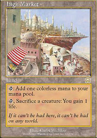 Magic the Gathering Mercadian Masques Single High Market FOIL - SLIGHT / MODERATE PLAY (SP/MP)