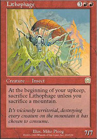 Magic the Gathering Mercadian Masques Single Lithophage - NEAR MINT (NM)