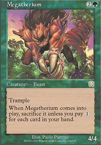 Magic the Gathering Mercadian Masques Single Megatherium - NEAR MINT (NM)