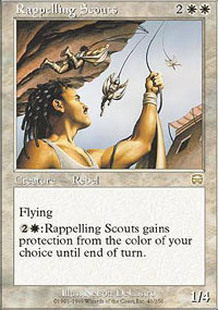 Magic the Gathering Mercadian Masques Single Rappelling Scouts Foil