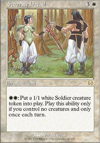 Magic the Gathering Mercadian Masques Single Security Detail - NEAR MINT (NM)
