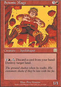 Magic the Gathering Mercadian Masques Single Seismic Mage UNPLAYED (NM/MT)