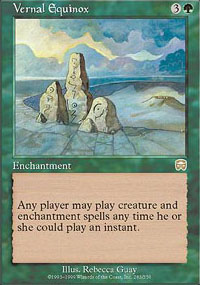 Magic the Gathering Mercadian Masques Single Vernal Equinox - NEAR MINT (NM)